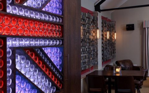 chapel down restaurant led bottle display union jack flag