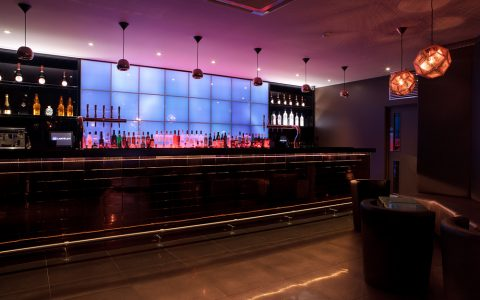 vetro bar led screen blue lighting
