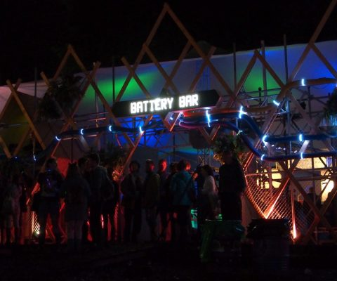 Greenpeace at Glastonbury 2016 - Battery Bar