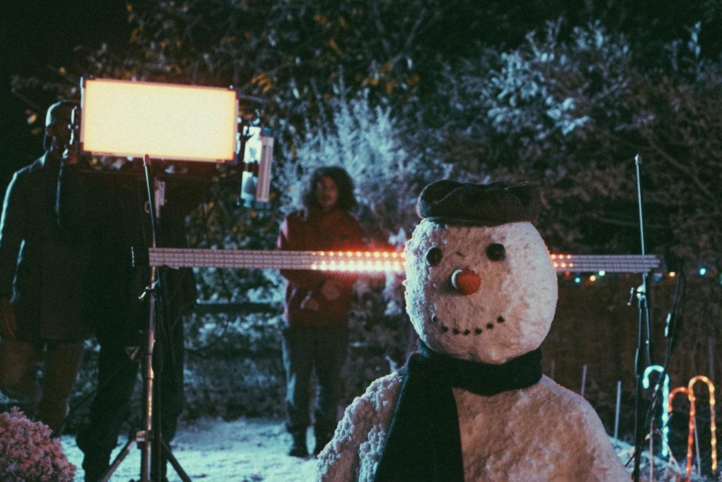Snowman in lights