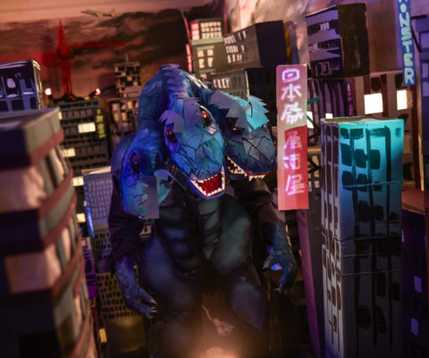 Epic Room Godzilla set lighting 1