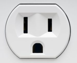 Sad face electrical socket